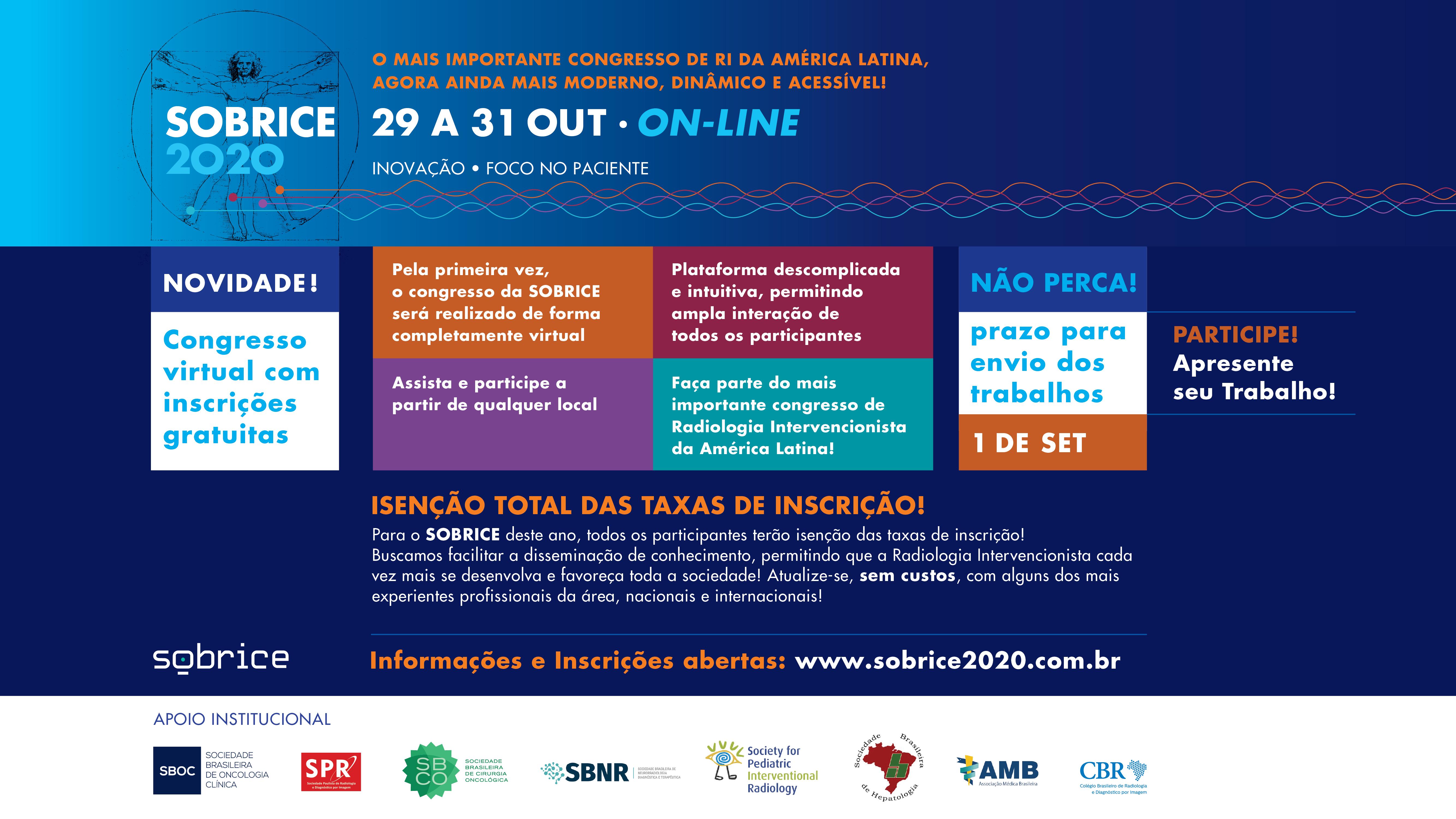 23º Congresso da SOBRICE - Sociedade Brasileira de Radiologia Intervencionista e Cirurgia Endovascular
