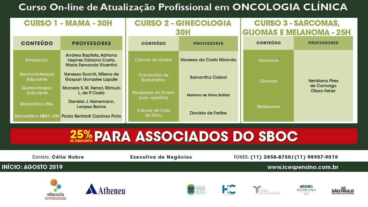 Cursos online de atualização profissional em Oncologia Clínica