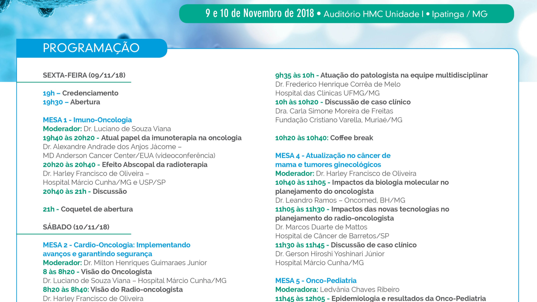 III Jornada de Oncologia do Leste Mineiro