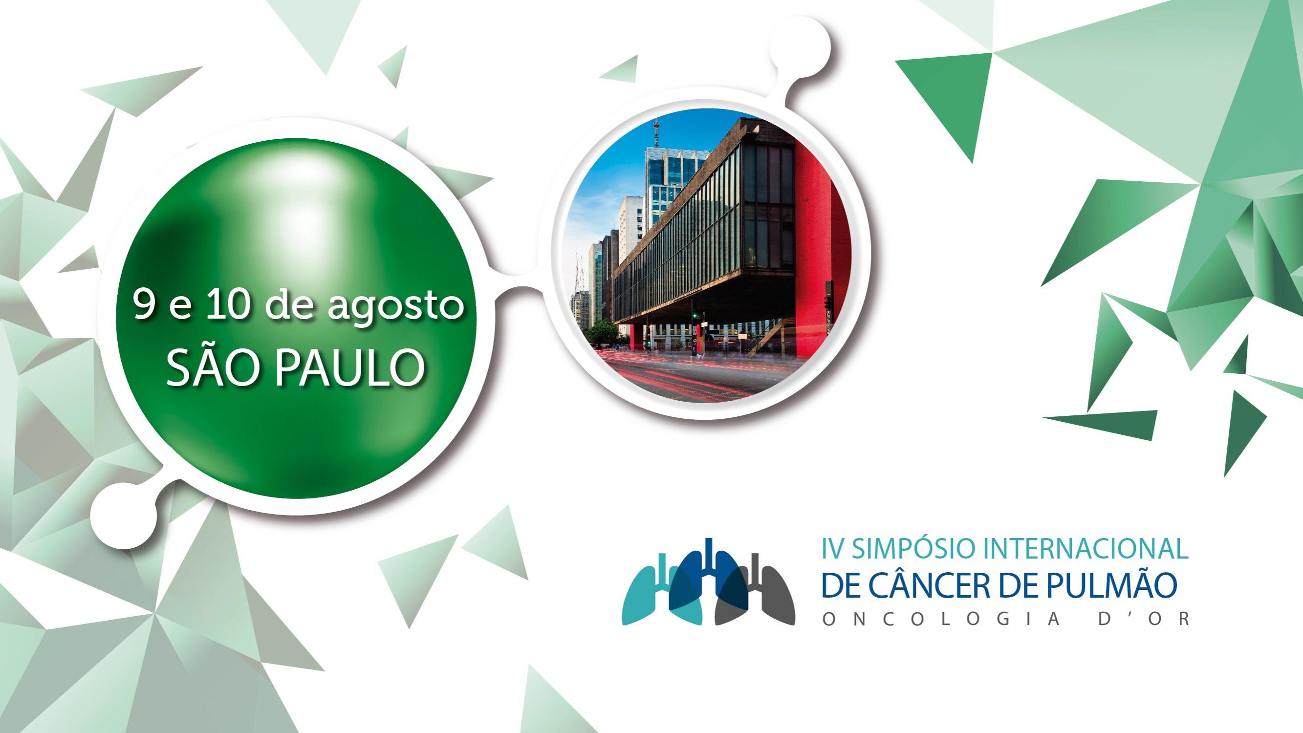 IV Simpósio Internacional de câncer de pulmão Oncologia D'Or