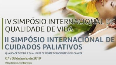 IV Simpósio Internacional de Qualidade de Vida e II Simpósio Internacional de Cuidados Paliativos