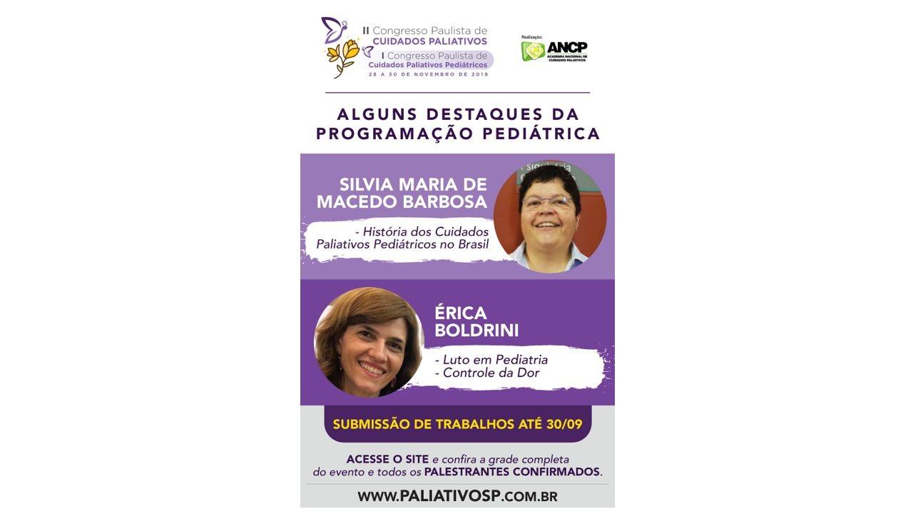 II Congresso Paulista de Cuidados Paliativos - I Congresso Paulista de Cuidados Paliativos Pediátricos
